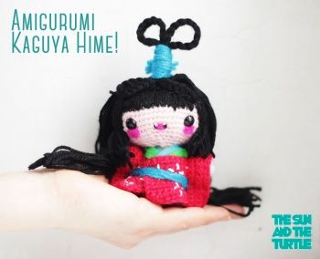 #Amigurumi  Kaguya Hime - Kokeshi Doll free pattern from The Sun and the Turtle #crochet #cuteoverload