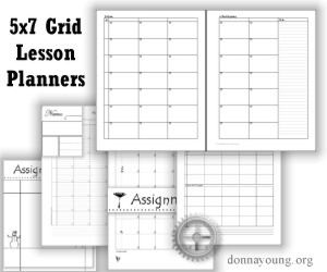 Free Printable 5x7 Grid Lesson Planners | Evidence Binders and ...