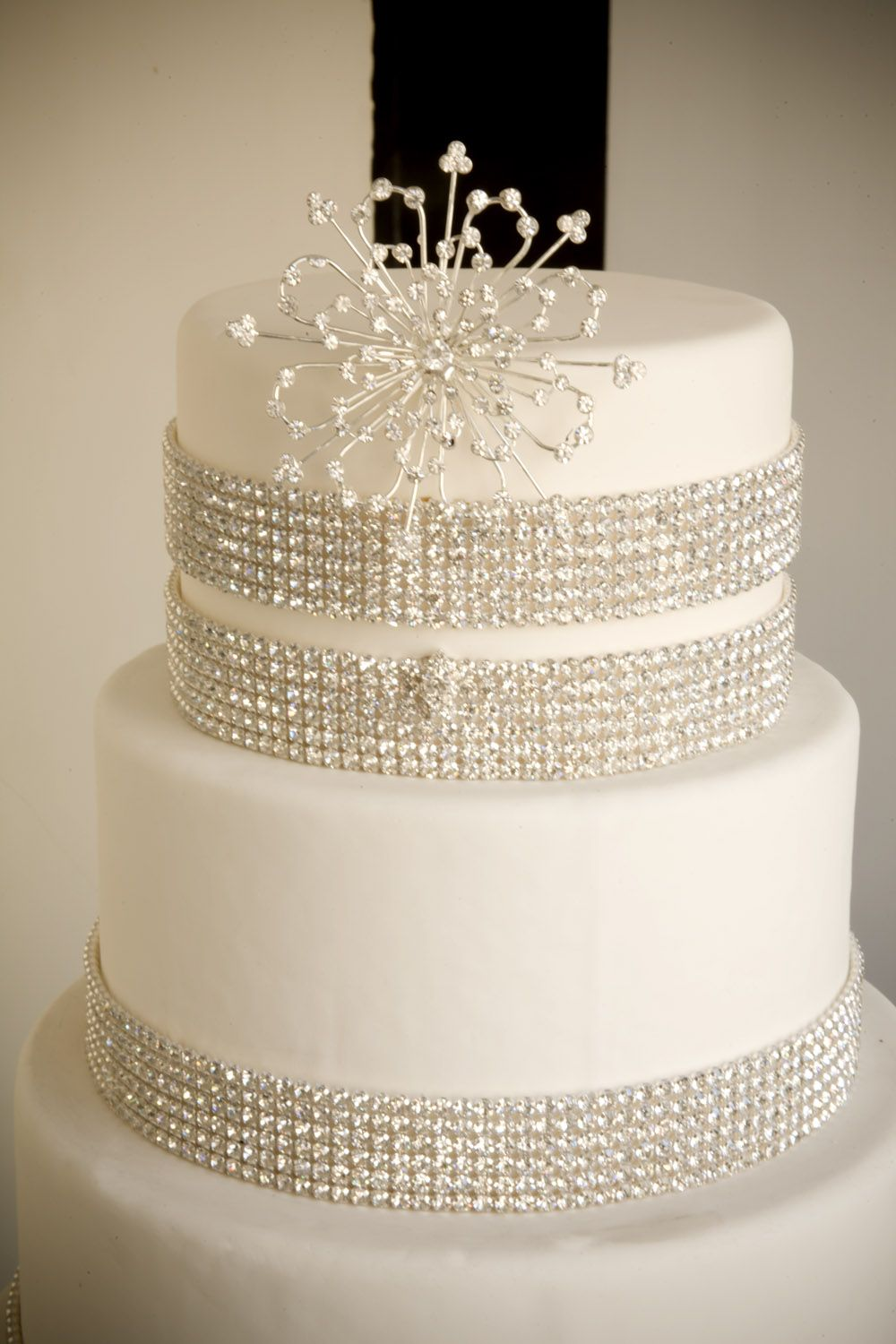 bling wedding cake designs bands of a simple cake decorations more 11925