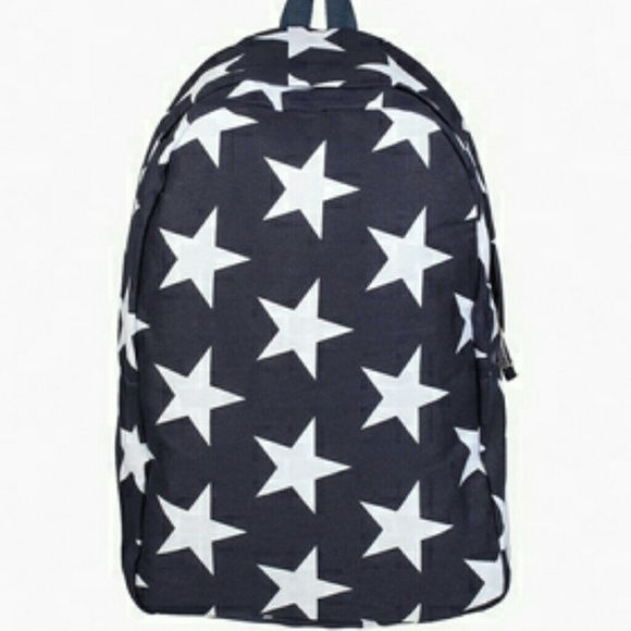 """⏬Final Drop - Navy Stars backpack  Navy Stars color backpack Cotton Length 11.5"""" Height  15"""" Adjustable straps Three Bird Nest Accessories"""
