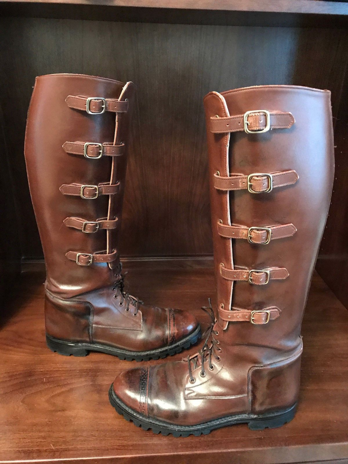 Dehner Tall Leather Cavalry Style Five Buckle Field Riding