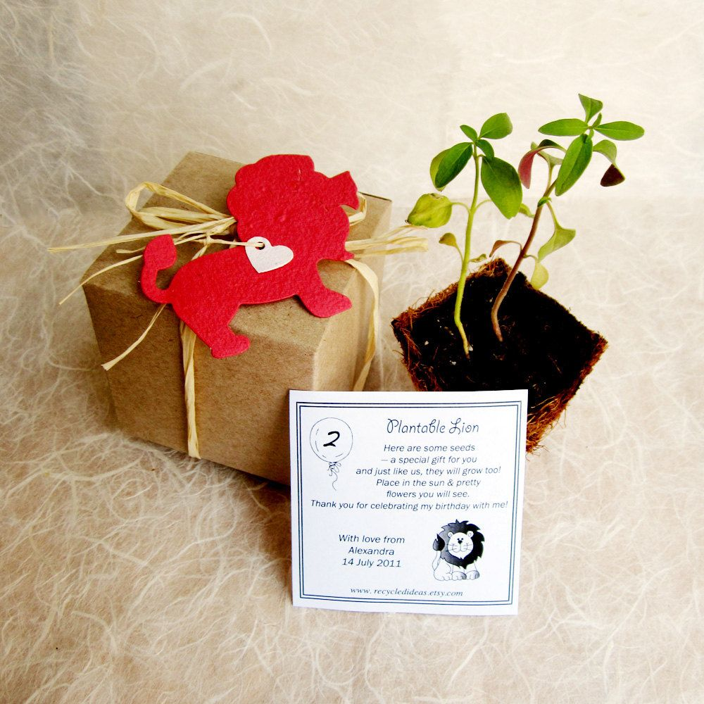 Plantable wedding favors - 10 Plantable Paper Lions Zoo Wedding Favor By Recycledideas