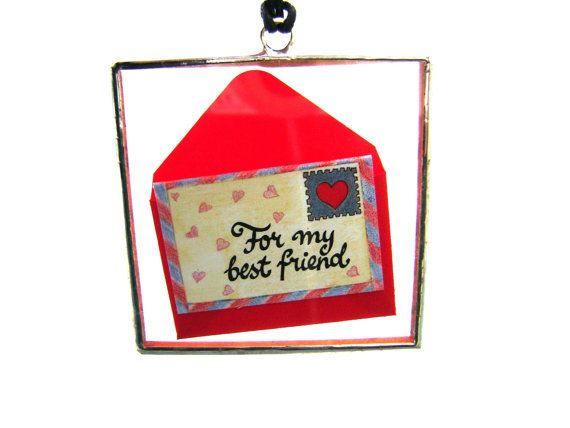 Valentines Day Cards Glass Ornament by GothicGlassStudio on Etsy, $20.00