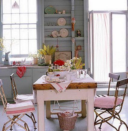 Cocinas con estilo Shabby Chic Shabby Tables and Decorating