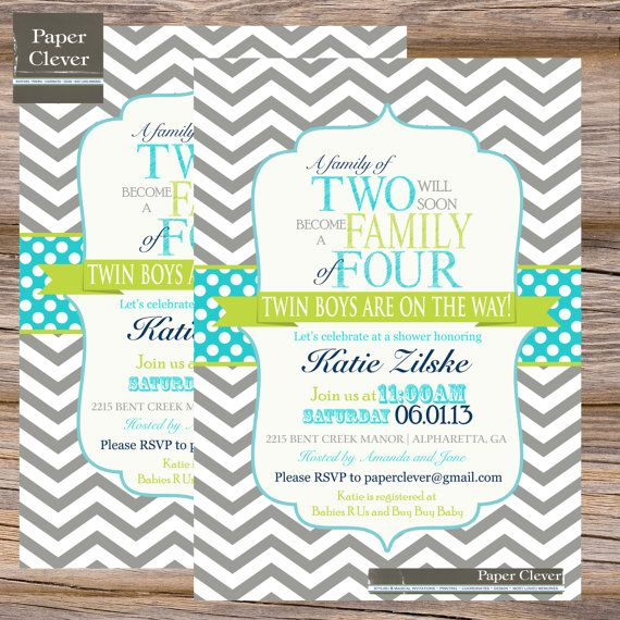 Boy twins baby shower invitation family of four by paperclever boy twins baby shower invitation family of four by paperclever 1300 filmwisefo