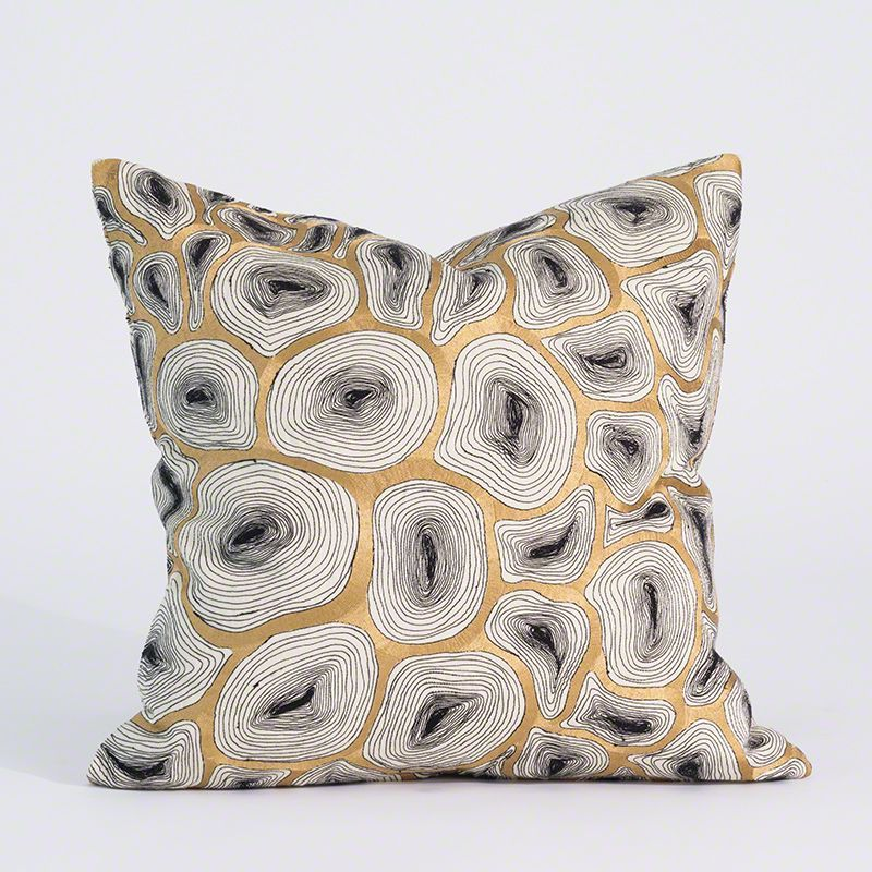 Photo of Studio A Agate Pillow – Black & Gold