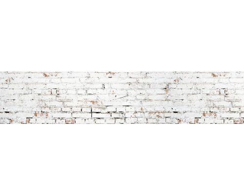 Kuchenruckwand Myspotti Splash White Bricks 280x60 Cm Attic Rooms