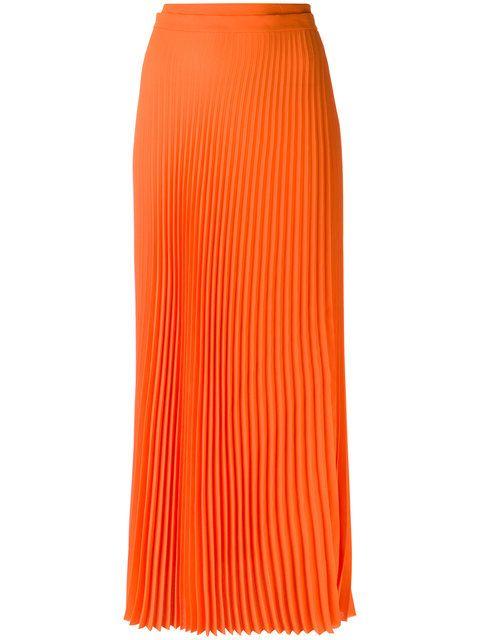 9733d7185b Shop Haider Ackermann long pleated skirt. Haider Ackermann, Lana, Orange,  Silk,