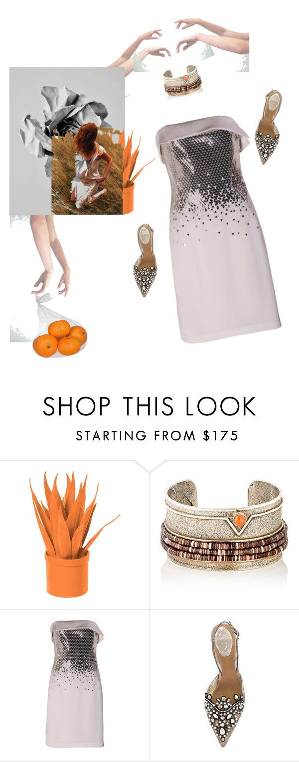 """""""Vit C"""" by palmgrass99 ❤ liked on Polyvore featuring TOMS, Stray Dog Designs, SCARLETT, Thierry Mugler and René Caovilla"""