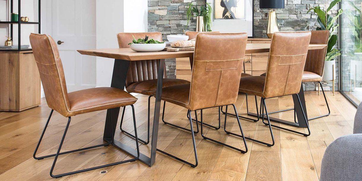 Fine Rocco Industrial Rustic Oak Dining Table In 2019 Rocco Creativecarmelina Interior Chair Design Creativecarmelinacom
