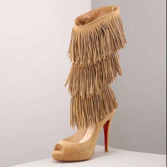 Fringe heels are too cute