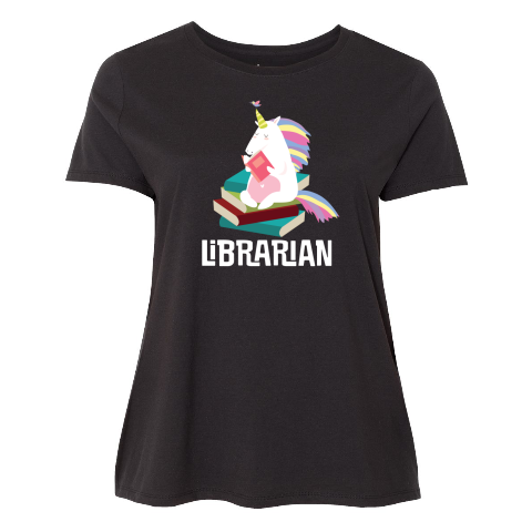 0c5258ad43c Unicorn Librarian Women s Plus Size T-Shirt cute reading gift idea  33.99   librarian  librariangift  childrenslibrarian  library  www.booklovertshirts.com