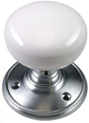 brushed chrome internal door knobs on white door - Google Search ...