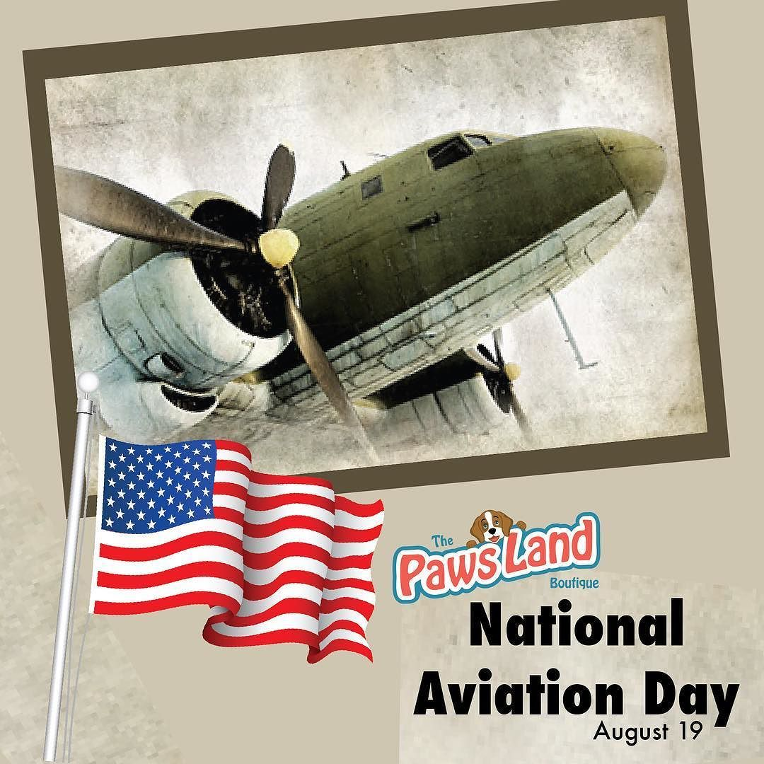 #august19 In 1939 President Franklin Roosevelt proclaimed August 19 to be National Aviation Day. The day coincides with the birthday of Orville Wright who piloted the Wright Flyer. He and his brother Wilbur are given credit for building the worlds first successful airplane with aircraft controls that enabled them to steer the plane. Orville Wright made the first flight for 12 seconds and 120 feet around the site of Wright Brothers National Memorial on December 17 1903. They were not the…
