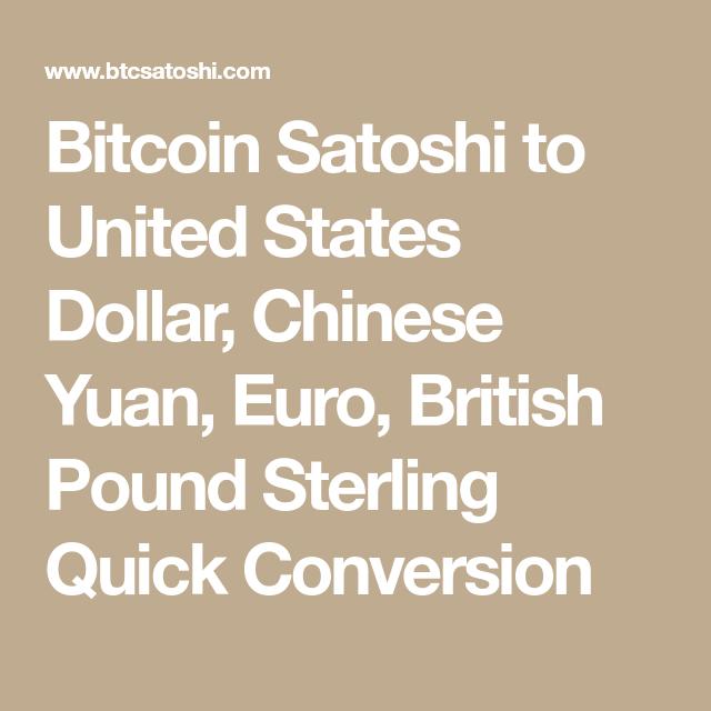Satoshi In Euro
