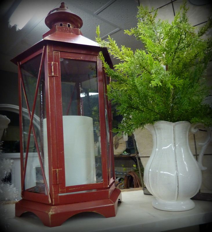Christmas Special. Lantern with candle. $19.99