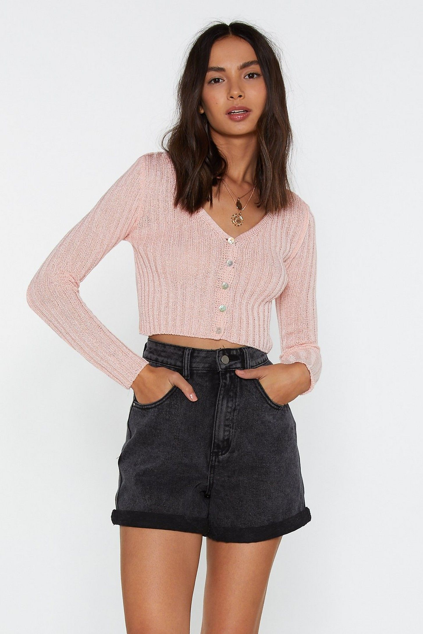 24f8f96fb9c No Chills Cropped Button-Down Cardigan   Shop Clothes at Nasty Gal ...