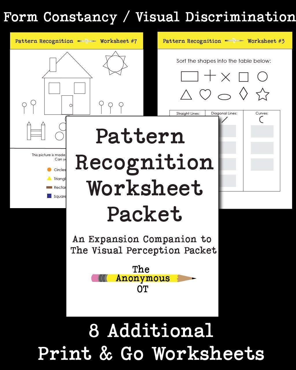 Pattern Recognition Worksheet Packet