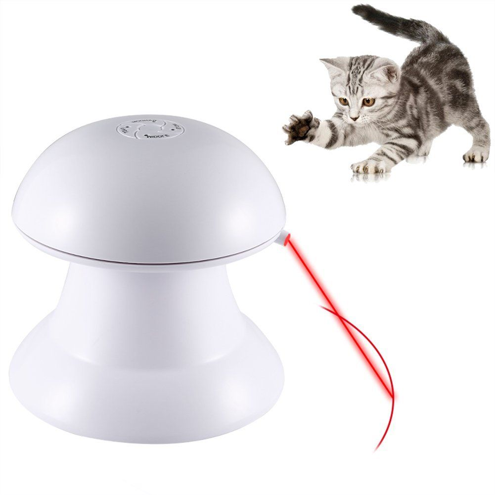 Petacc Automatic Rotating Laser Light Toy Cat Interactive Laser Toy Safe  Pet Laser Toy With 360