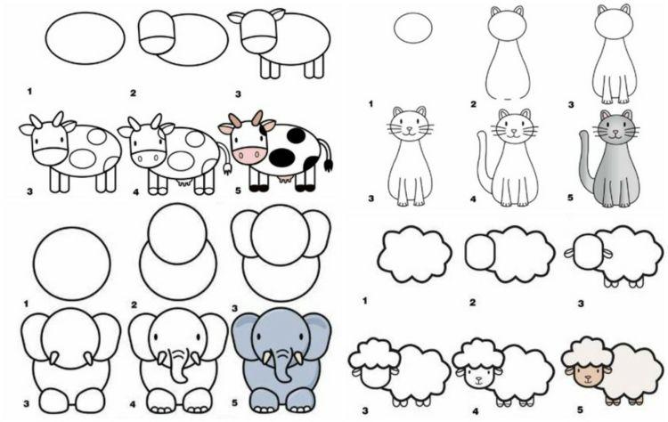 Kinder Lernen Schnell Mit Schritt Fur Schritt Anleitungen Zeichnen Lernen Fur Kinder Zeichnen Lernen Kinder Zeichnen