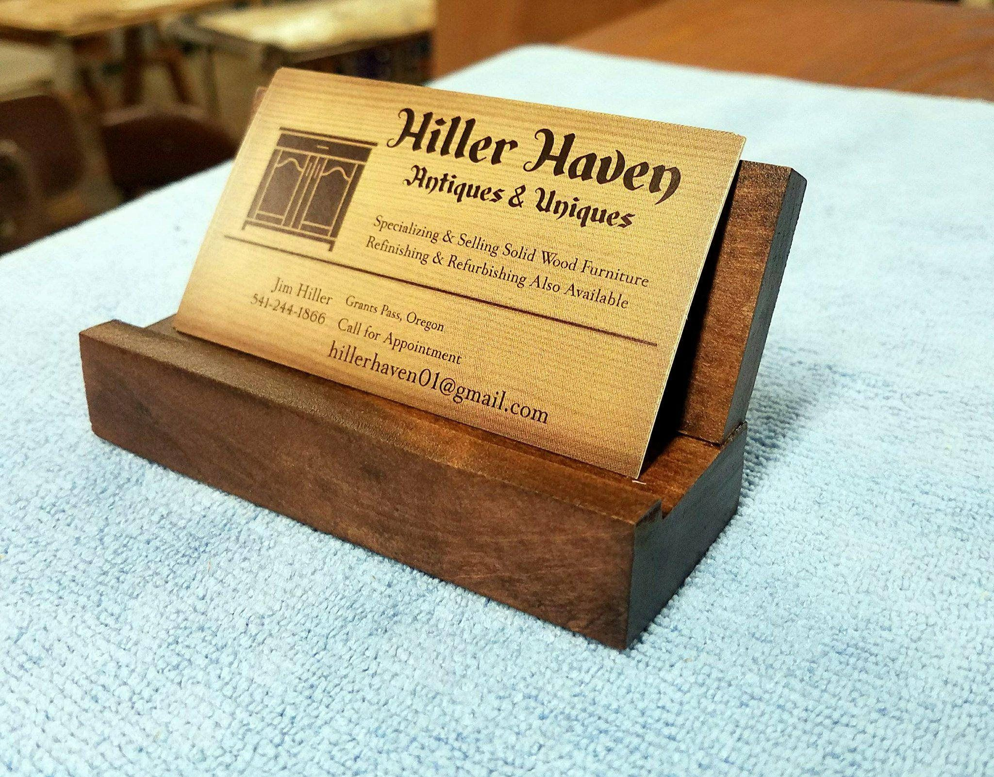 Wood business card holderdesk decor office decor hilller haven excited to share the latest addition to my etsy shop wood business card holder reheart Choice Image