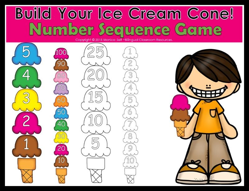 Photo By Bilingual Resources Picmonkey Photo Editing Made Of Win Sequence Game Number Sequence Teaching
