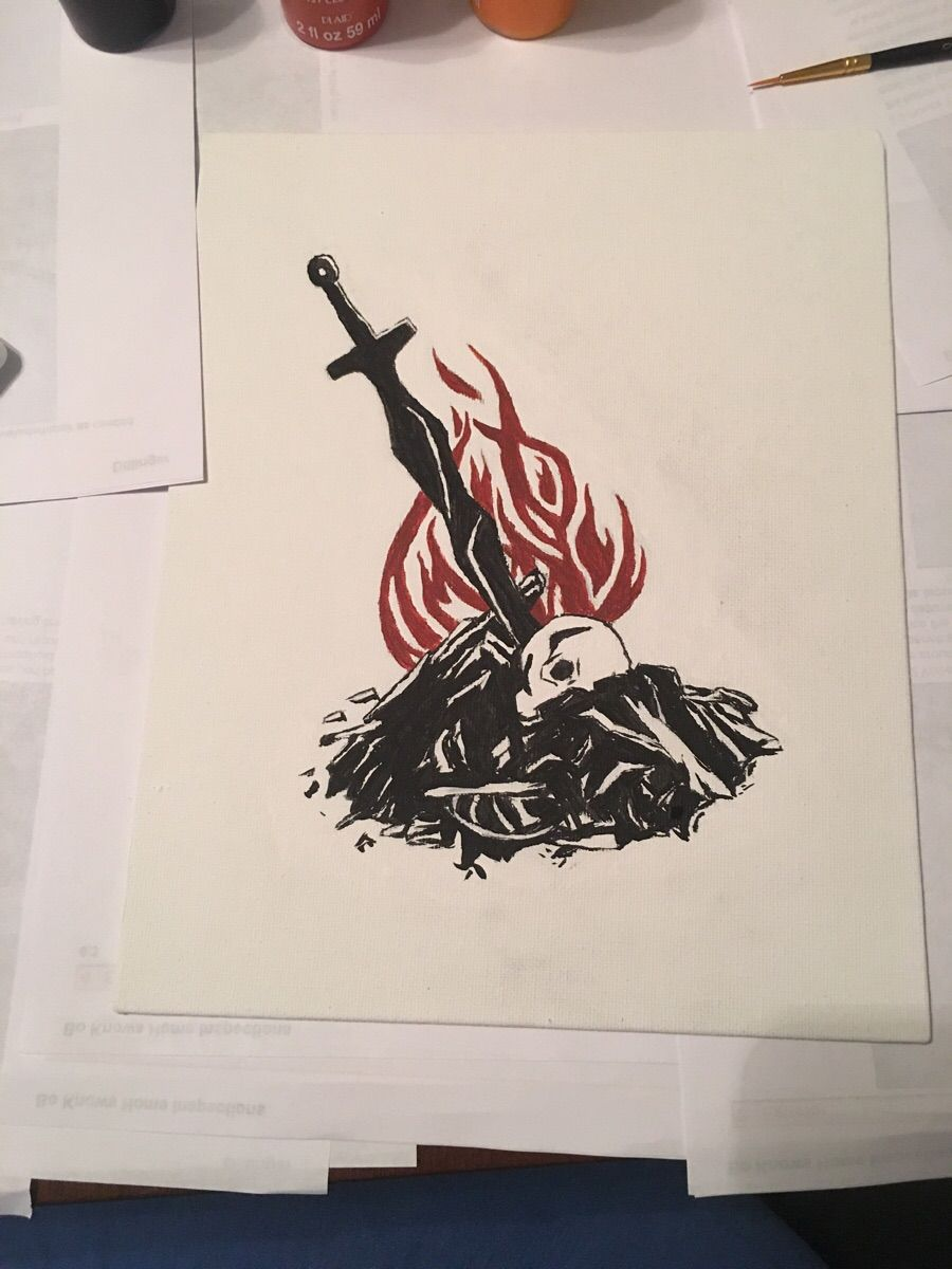 Bonfire for my boyfriend dark souls themed christmas gift for Gifts for tattoo artist