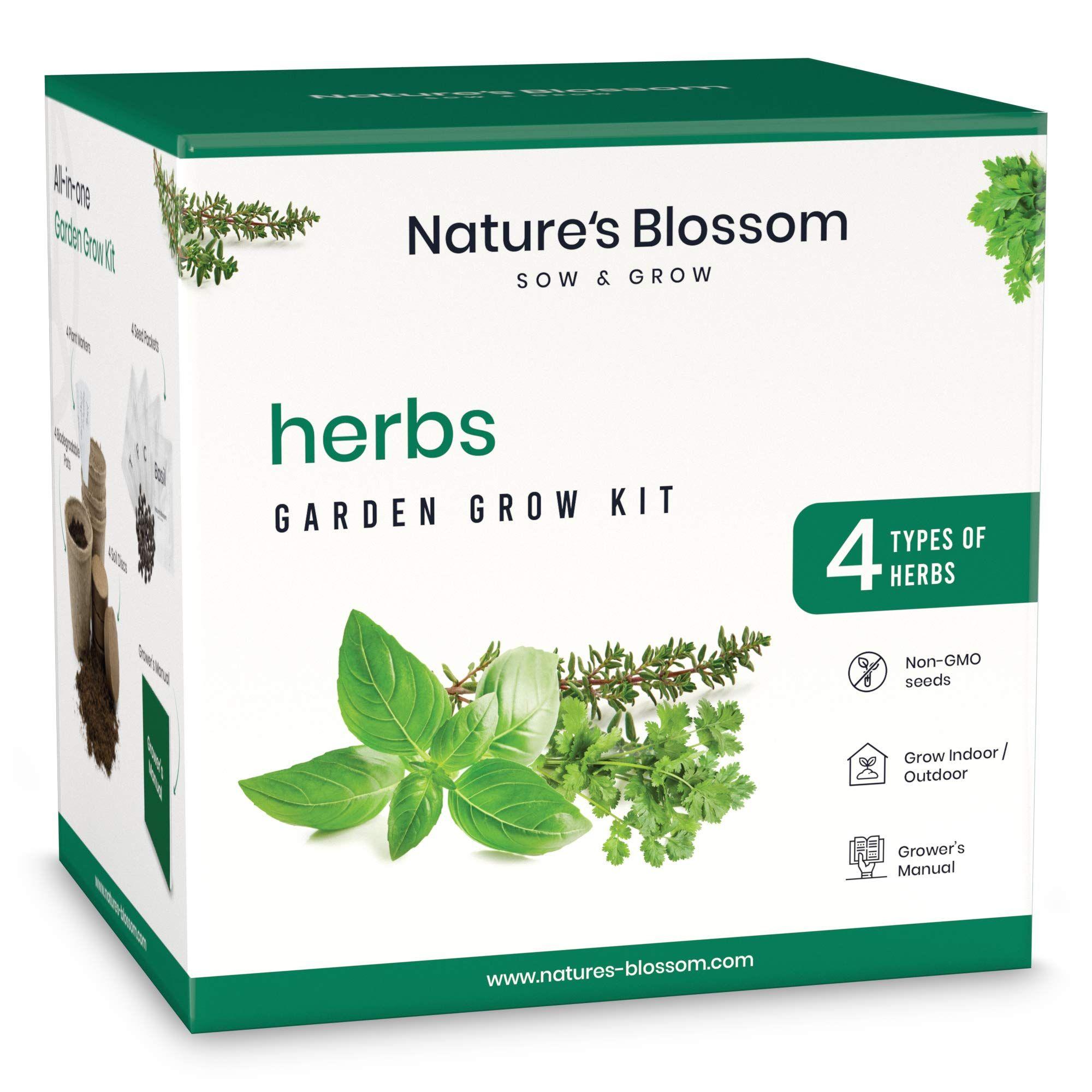 Nature's Blossom Kitchen Herb Garden Indoor Seed Starter