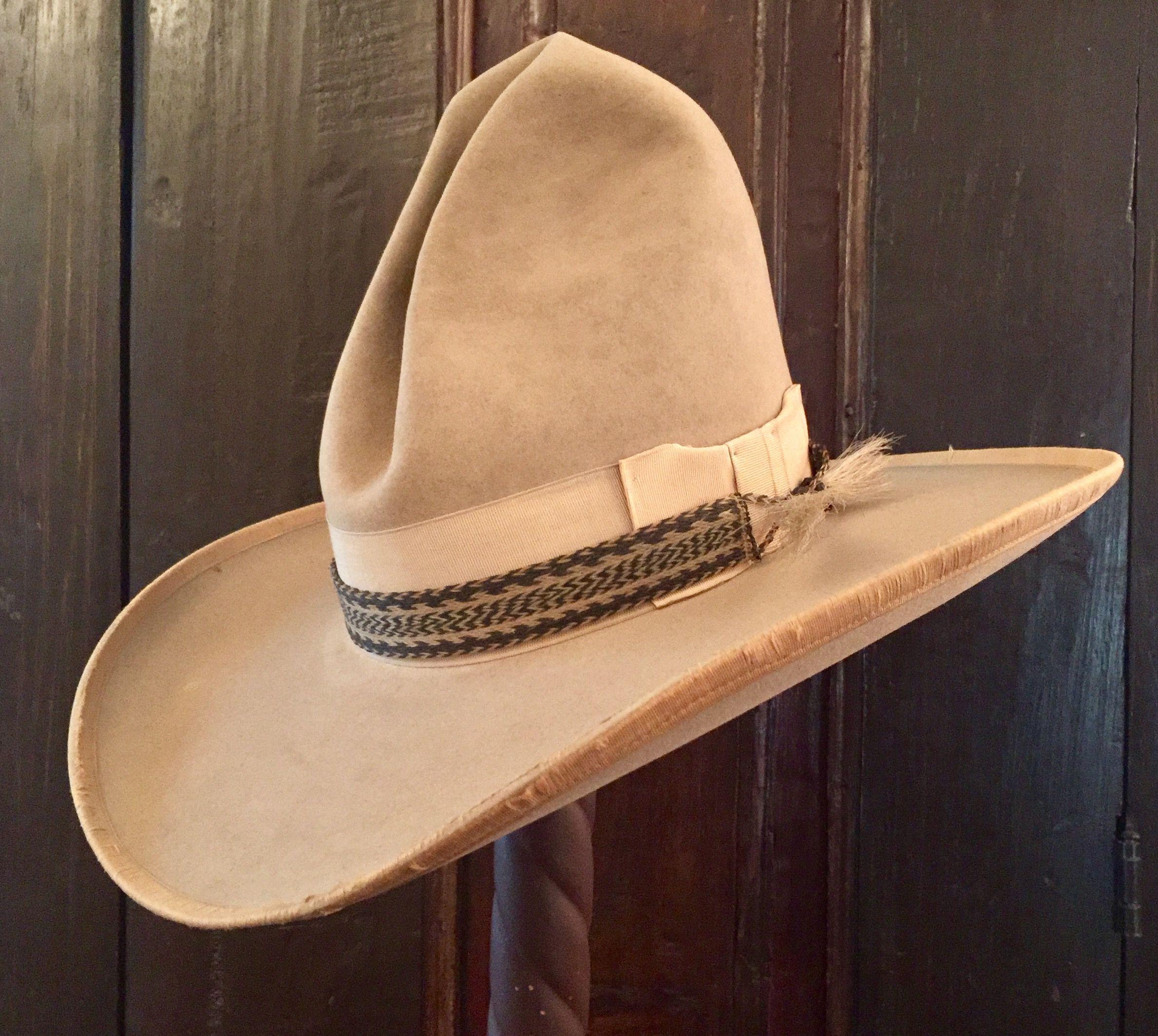 de37db8b1 Antique Stetson cowboy hat. Stamped