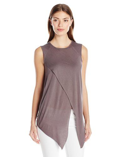 LAmade Women's Ero Muscle Tee  Color: Fennel Black Fennel White 100% Modal Made in US Hand Wash Micro modal Raglan muscle tee Made in USA