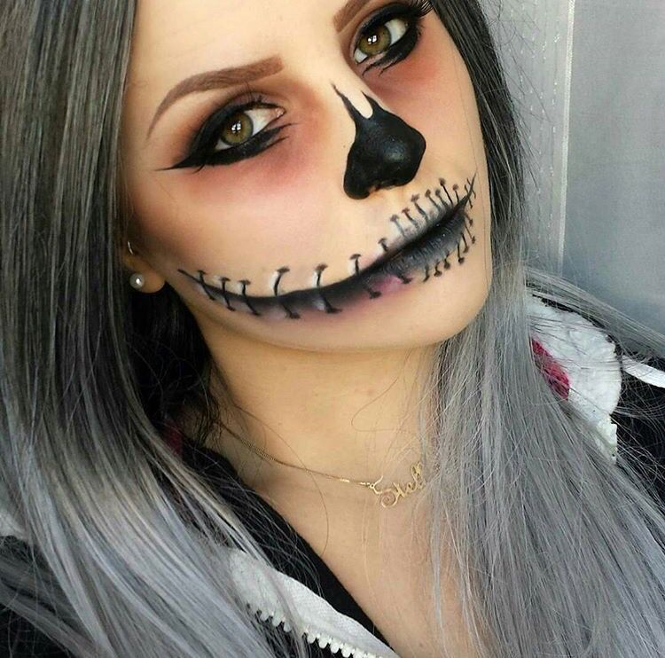 Cute makeup idea for Halloween Halloween Pinterest Makeup - cute makeup ideas for halloween