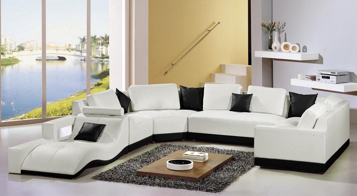 صور كنب ارضي مودرن Photos Of Modern Ground Sofas قصر الديكور Contemporary Leather Sectional Sofa White Sectional Sofa Sectional Sofa