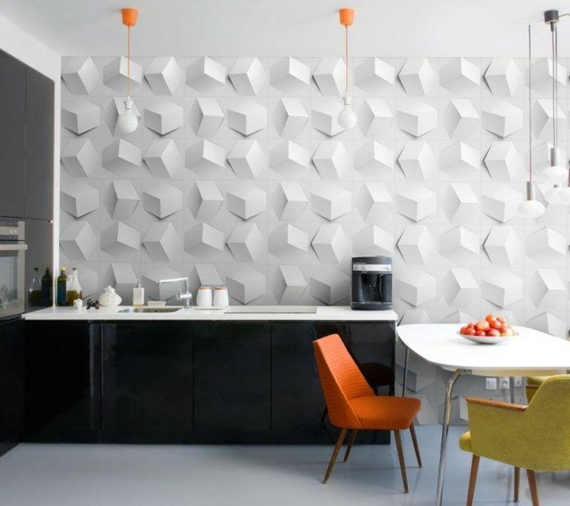 Tolle Wandgestaltung Ideen Für Die Küche, Das Wohn  Und Schlafzimmer  #wandfarbe #wohnideen