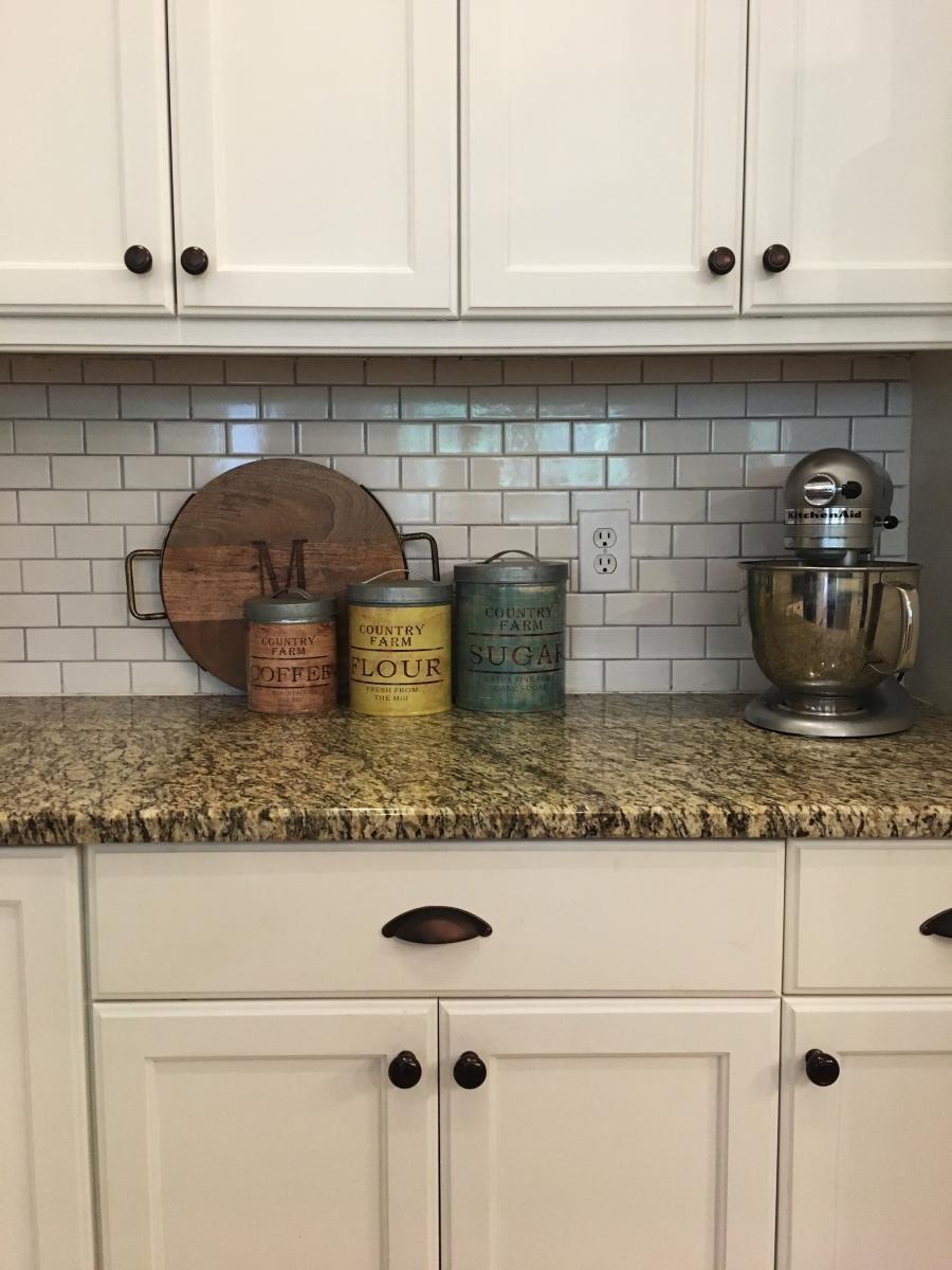Farmhouse Kitchen   White Cabinets   Granite Countertops ... on Farmhouse Kitchen Farmhouse Granite Countertops  id=41684