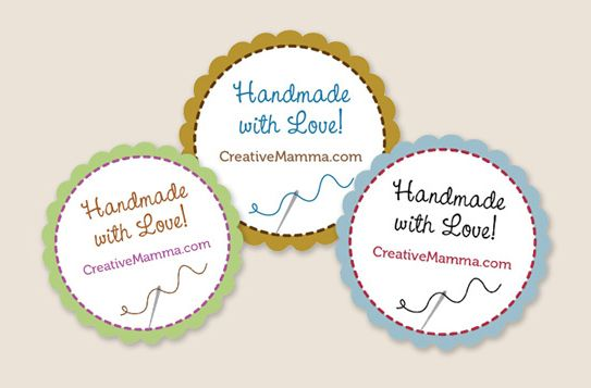 Free customizable tags handmade with love can add name shop name etc