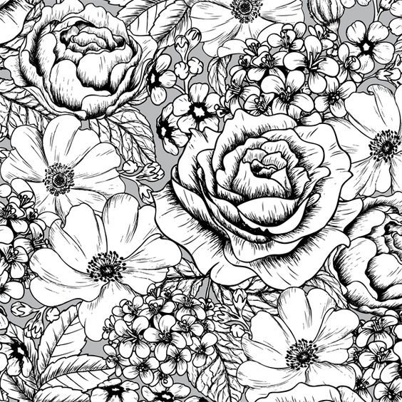 A Page Of Gorgeous Flowers From The Gorgeous Vintage Patterns