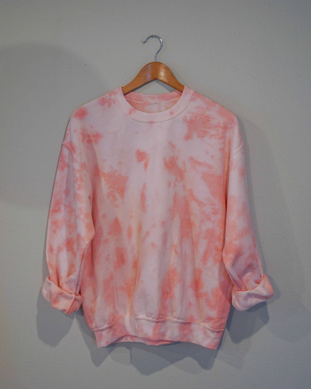 Peach Tie Dye Crewneck Sweatshirt Etsy Tie Dye Crewneck Sweatshirts Peach Tie Crew Neck Sweatshirt [ 3000 x 2400 Pixel ]