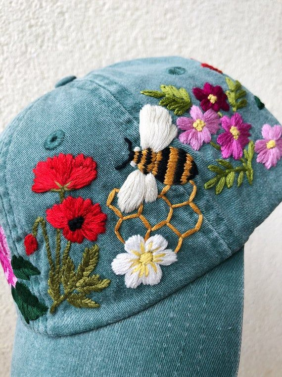 Bumble Bee Custom Personalized Embroidery Embroidered Beanie