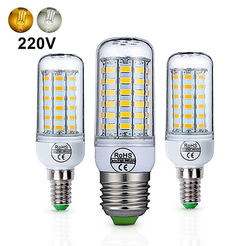E27 LED Lamp E14 LED Bulb AC 220V 240V 24 36 48 56 69 72 LEDs ...