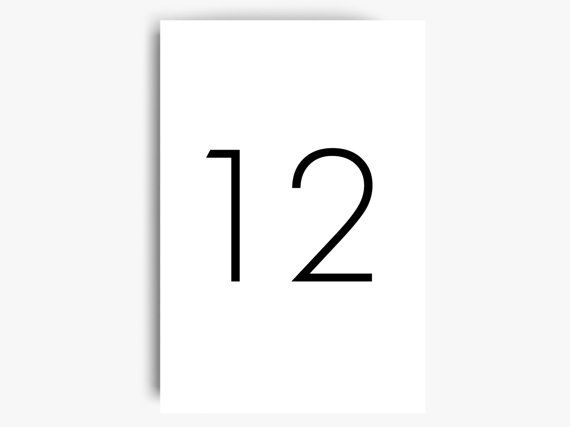 table numbers template table numbers printable simple table