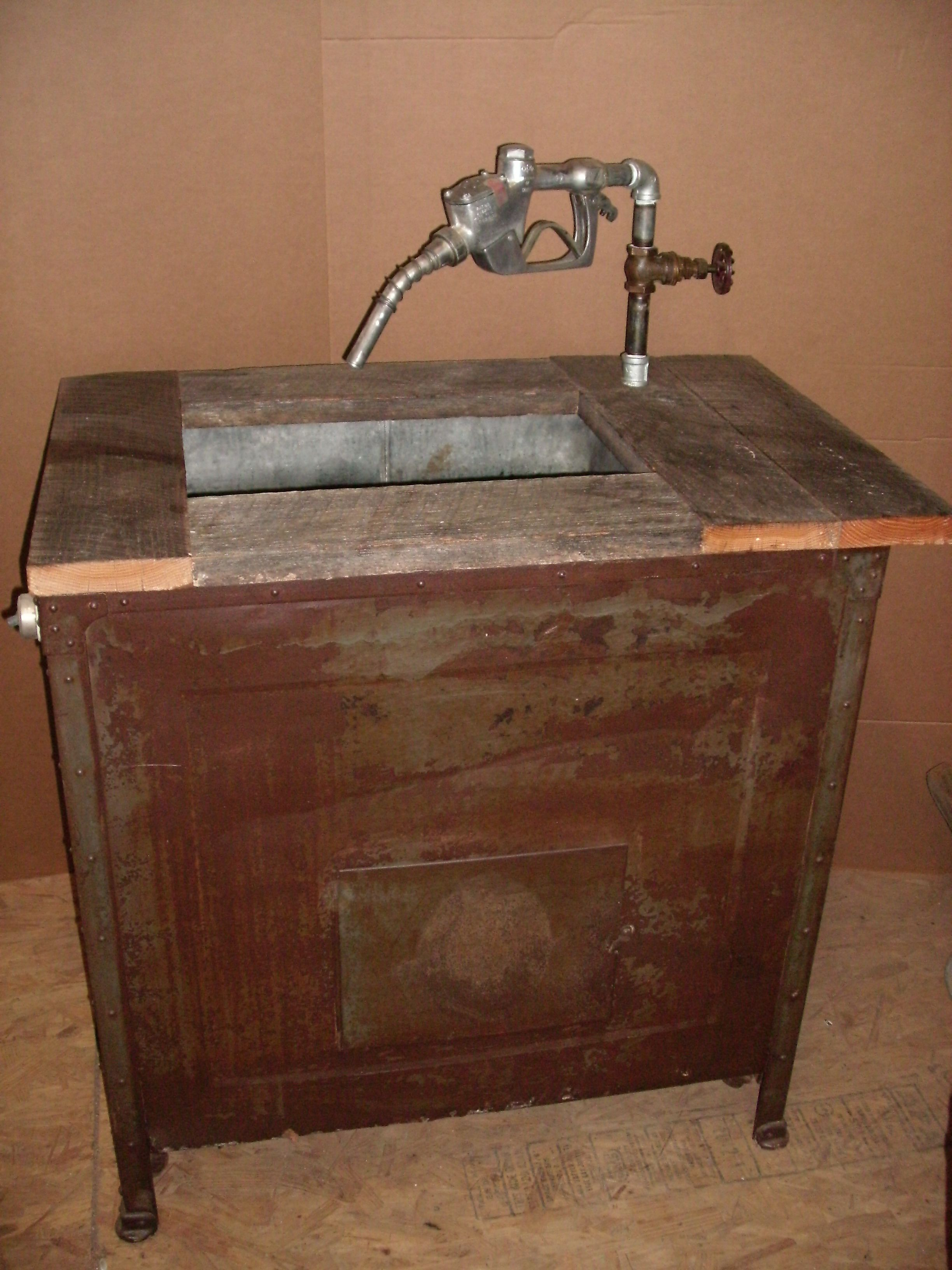 Outdoor Sink And/or Ice Chest. Early 1900u0027s Pollyanna Industrial Washing  Machine Base,