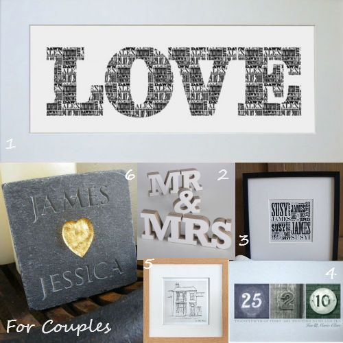 Couples Christmas Gift Ideas: Gift Ideas For Couples From Letterfest