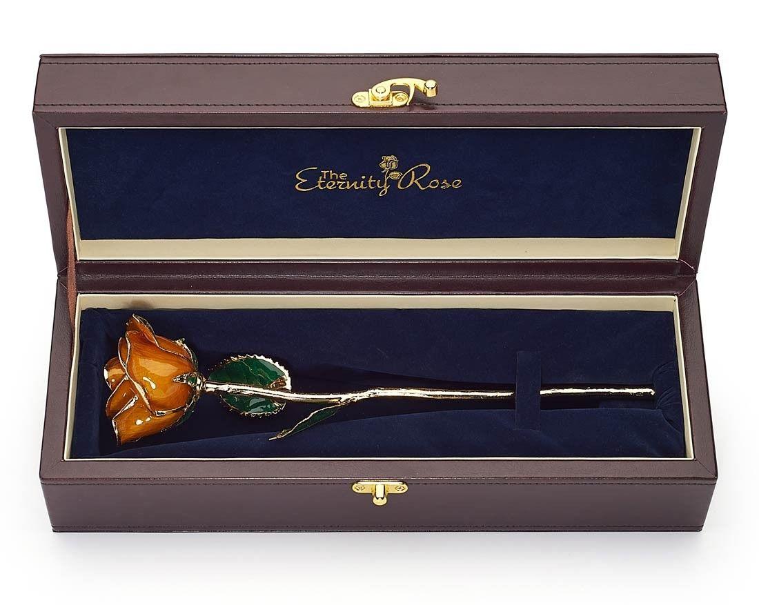 """orange natural rose glazed & trimmed with 24k gold 12""""   pinterest"""