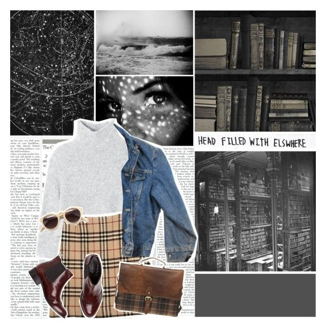 """""""head filled with elsewhere"""" by thatwhiteferret ❤ liked on Polyvore featuring Mineheart, xO Design, Rebecca Taylor, Burberry, Wrangler and ASOS"""