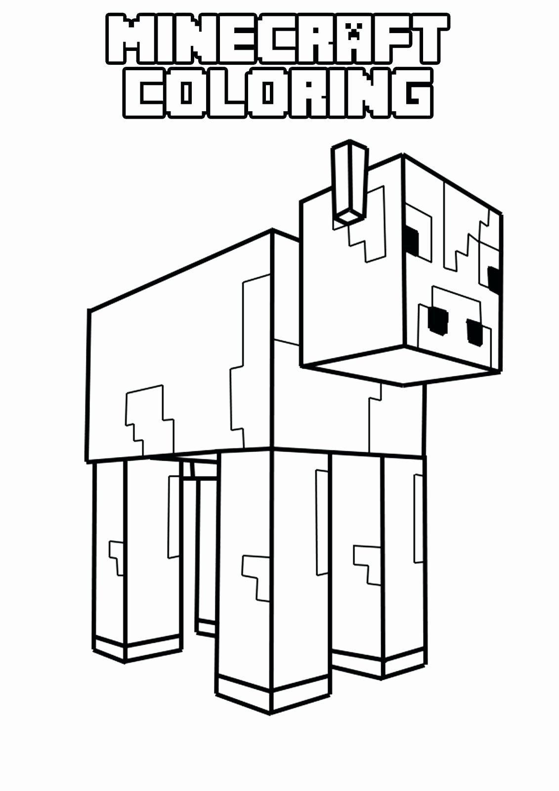 Number Coloring Minecraft Lovely Minecraft Coloring Pages Mutant Zombie Highendpaper Minecraft Coloring Pages Minecraft Printables Cow Coloring Pages