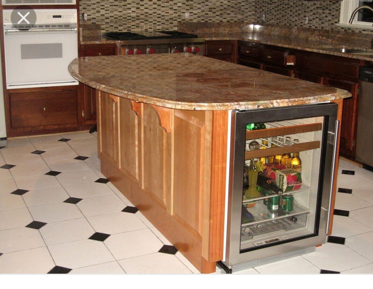 Kitchen island, island counter. I would like storage rather than beverage refrigerator