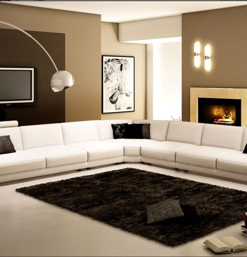 Extra large modern sectional sofa sofas futons large - What to do with an extra living room ...