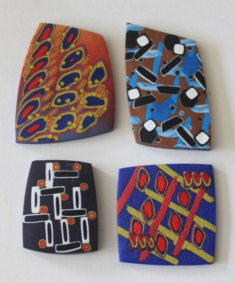"Nan Roche, ""Bauhaus""  designs.  Found on Cabin Fever Creative Arts Fest's blog. Getting ready for the Feb. 12-18, 2015 retreat in Laurel, Md.  See more at the CFCAF site."