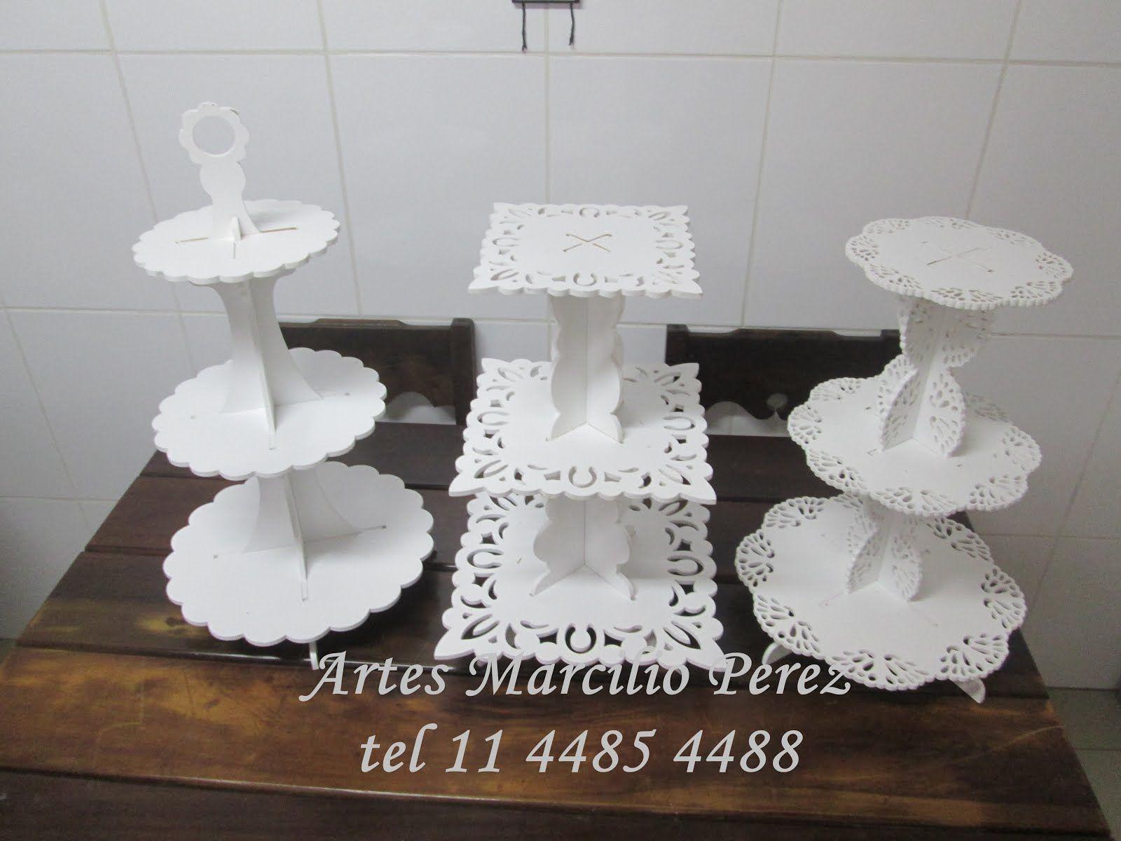 Bandeja torre para docinhos e Cup cake