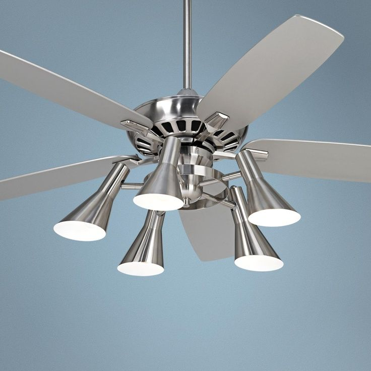 Silver Ceiling Fan With Light Modern Ideas